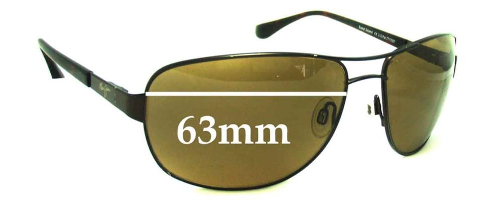 5665278426d Sunglass Fix Sunglass Replacement Lenses for Maui Jim MJ253 Sand Island - 63mm  Wide