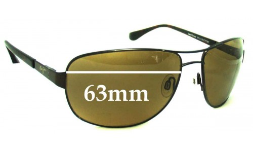 Sunglass Fix Sunglass Replacement Lenses for Maui Jim MJ253 Sand Island - 63mm Wide