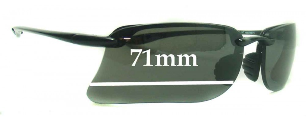 Sunglass Fix Sunglass Replacement Lenses for Maui Jim MJ411 Turtle Bay - 71mm Wide
