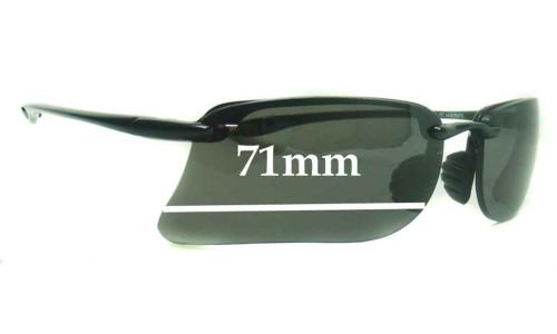 Sunglass Fix Sunglass Replacement Lenses for Maui Jim MJ411-02 - 71mm Wide