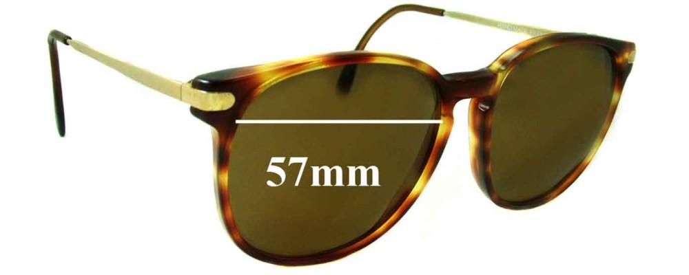 Sunglass Fix Sunglass Replacement Lenses for Monsieur 7112 - 57mm Wide