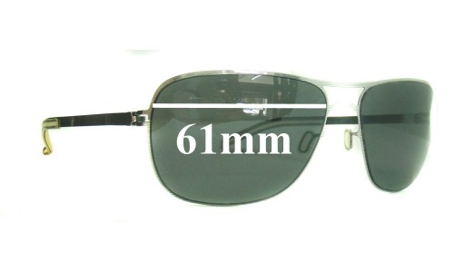 Sunglass Fix Sunglass Replacement Lenses for Maykita Burt - 61mm Wide **Must be sent in for Custom Cut and Install - No Polarized**