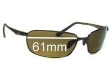 Sunglass Fix Sunglass Replacement Lenses for Nike Avid EV0569 or EV0570 - 61mm Wide