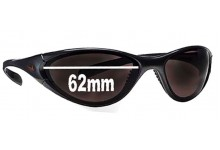 Sunglass Fix Sunglass Replacement Lenses for Nike Interchange Round EV0010 - 62 mm Wide