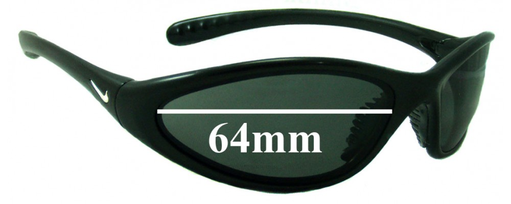 8e55cb95b17b3 Nike Tarj Classic EVO054 Sunglass Replacement Lenses - 64MM wide ...