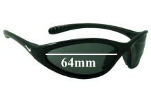 Sunglass Fix Sunglass Replacement Lenses for Nike Tarj Classic EVO054 - 64mm Wide