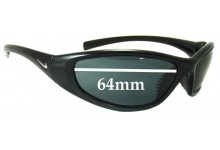 Sunglass Fix Sunglass Replacement Lenses for Nike Tarj RD or Tarj Round - 64mm Wide