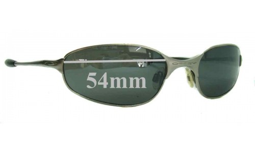 Sunglass Fix Sunglass Replacement Lenses for Oakley A-Wire 2.0 Spring Hinge - 54mm Wide