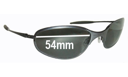 Sunglass Fix Sunglass Replacement Lenses for Oakley A-Wire Thick - 54mm Wide - awire a wire