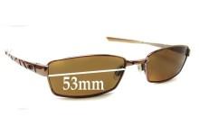 Sunglass Fix Sunglass Replacement Lenses for Oakley Corkscrew 4.0 - 53mm Wide