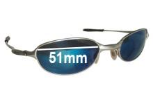 Sunglass Fix Sunglass Replacement Lenses for Oakley E Wire 2.1 - 51mm Wide