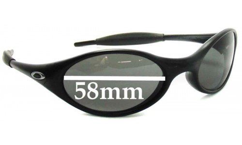 Sunglass Fix Sunglass Replacement Lenses for Oakley New Eye Jacket 1999 - 2002 release dates - 58 mm Wide