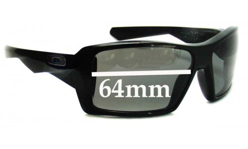 Sunglass Fix Sunglass Replacement Lenses for Oakley Eye Patch - 64mm Wide