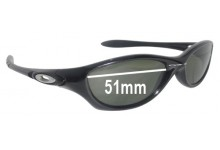Sunglass Fix Sunglass Replacement Lenses for Oakley Fate - 51mm Wide
