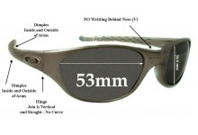 Sunglass Fix Sunglass Replacement Lenses for Oakley Fives Late 1990's model - 53mm Wide