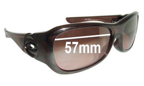Sunglass Fix Sunglass Replacement Lenses for Oakley Flaunt OO9083 - 57mm Wide