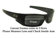 Sunglass Fix Sunglass Replacement Lenses for Oakley Gascan Asian Fit - 57mm Wide