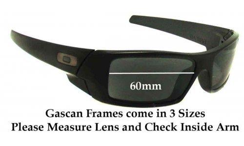 Sunglass Fix Sunglass Replacement Lenses for Oakley Gascan 60mm wide Sunglass Replacement Lenses