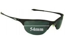 Sunglass Fix Sunglass Replacement Lenses for Oakley Half Wire - 54mm Wide  x 31mm Tall