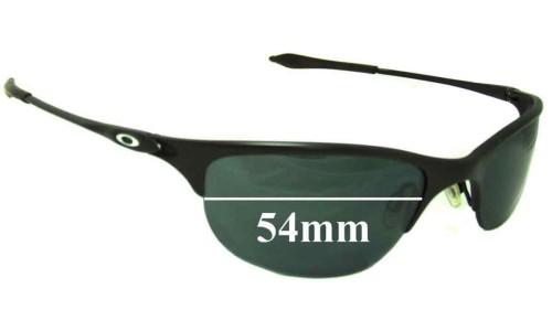 Sunglass Fix Sunglass Replacement Lenses for Oakley Half Wire - 54mm Wide  x 31mm Tall