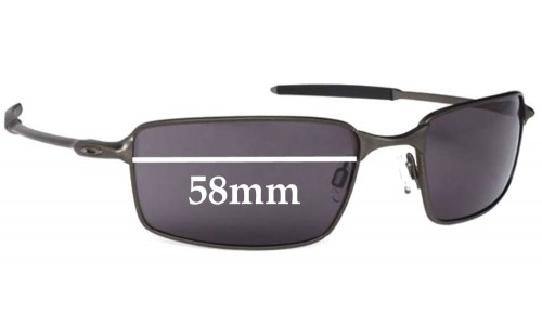 Sunglass Fix Sunglass Replacement Lenses for Oakley 2006 - New Square Wire - 58mm Wide