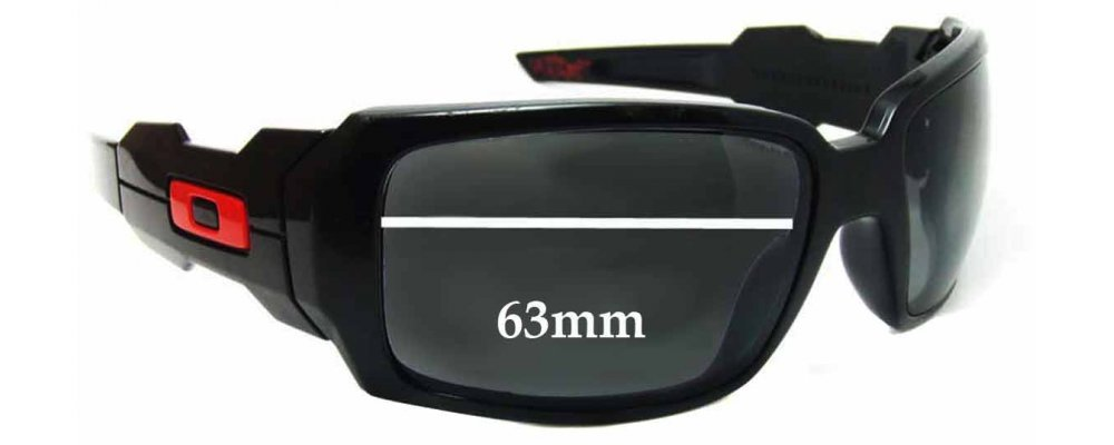 ca0bf9bc9af Oakley Oil Drums Sunglass Replacement Lenses - 63mm wide