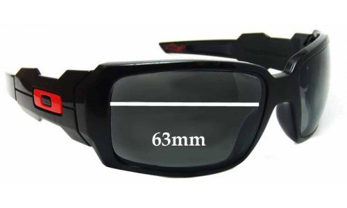 Sunglass Fix Sunglass Replacement Lenses for Oakley Oil Drums - 63mm wide