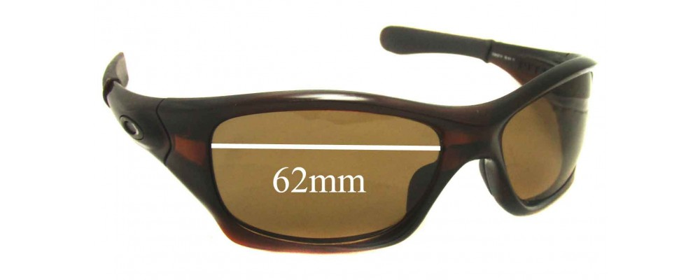 fc3336ce05 Sunglass Fix Sunglass Replacement Lenses for Oakley Pit Bull OO9127 - 62mm  wide