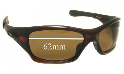 Sunglass Fix Sunglass Replacement Lenses for Oakley Pit Bull OO9127 - 62mm Wide