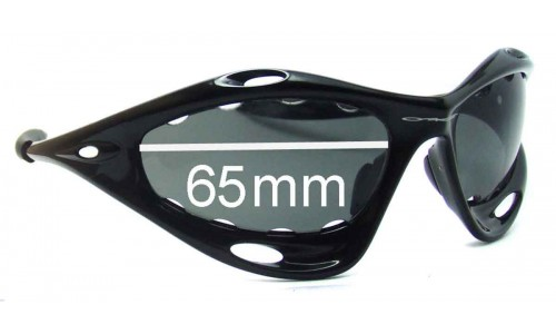 Sunglass Fix Sunglass Replacement Lenses for Oakley Racing Jacket Generation 1 - Vented Lenses - Pre 2006 - 65mm Wide