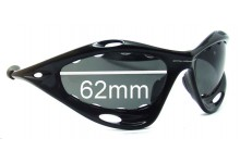 Sunglass Fix Sunglass Replacement Lenses for Oakley Racing Jacket Generation 2 - Vented Lenses - Around 2006+ - 62mm Wide