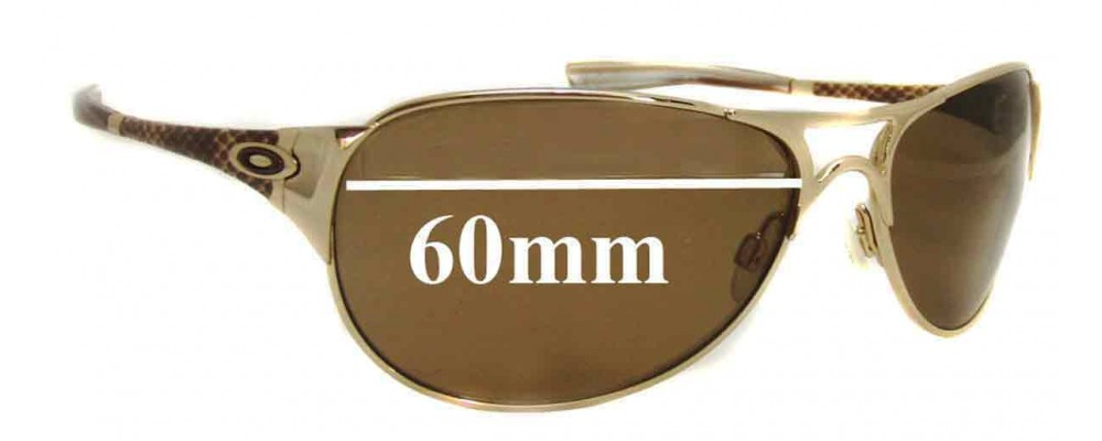 Sunglass Fix Sunglass Replacement Lenses for Oakley Restless OO4038 - 60mm Wide