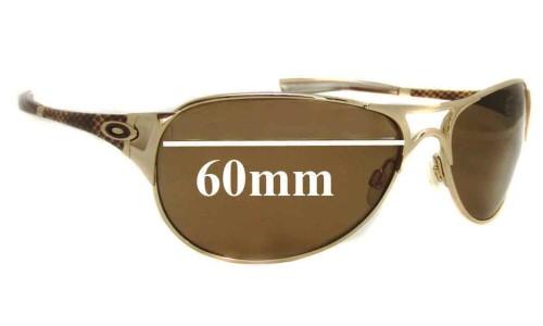 Sunglass Fix Sunglass Replacement Lenses for Oakley Restless - 60mm wide