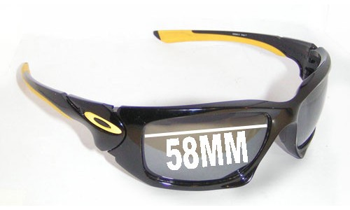 Sunglass Fix Sunglass Replacement Lenses for Oakley Scalpel Asian Fit - 58mm wide