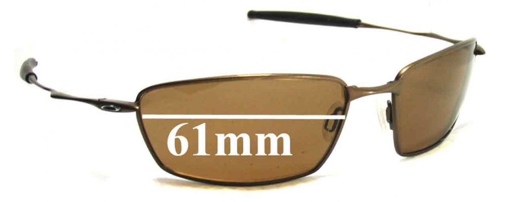 f98fdc85ed Oakley Square Whisker Sunglass Replacement Lenses - 61mm Wide ...