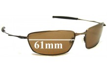 Sunglass Fix Sunglass Replacement Lenses for Oakley Square Whisker - 61mm Wide
