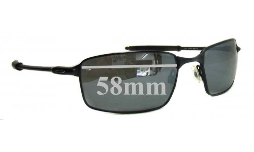 Sunglass Fix Sunglass Replacement Lenses for Oakley Square Wire T - Version T - 58mm Wide