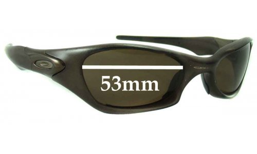Sunglass Fix Sunglass Replacement Lenses for Oakley Valve - 53mm wide
