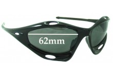 Sunglass Fix Sunglass Replacement Lenses for Oakley Racing Jacket Generation 2 - Non Vented Lenses - Around 2006+ - 62mm Wide