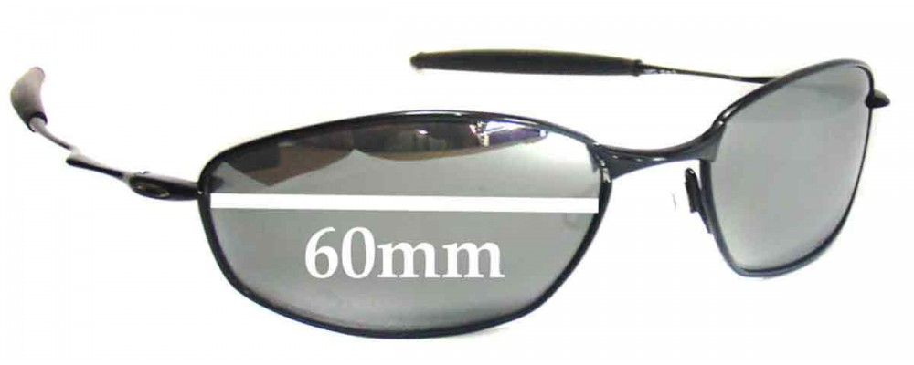 Sunglass Fix Sunglass Replacement Lenses for Oakley Whisker - 60mm Wide