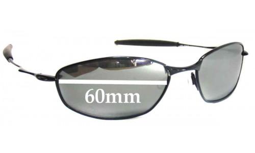 Sunglass Fix Sunglass Replacement Lenses for Oakley Whisker - 60mm wide