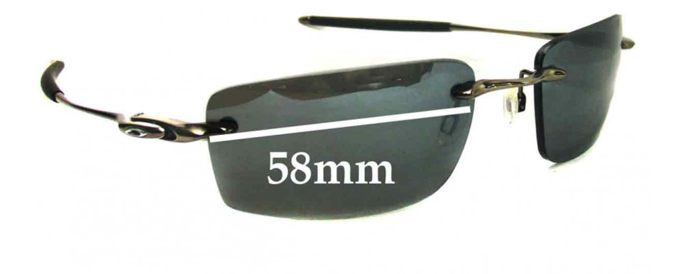 oakley why 8  Why 8.2 Sunglass Replacement Lenses - 58mm Wide