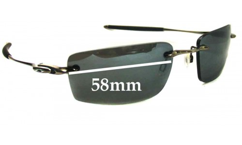 Sunglass Fix Sunglass Replacement Lenses for Oakley Why 8.2 - 58mm Wide
