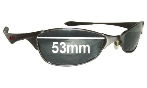 Sunglass Fix Sunglass Replacement Lenses for Oakley Wiretap - 53mm Wide
