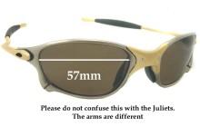 Sunglass Fix Sunglass Replacement Lenses for Oakley X METAL XX - 57mm Wide