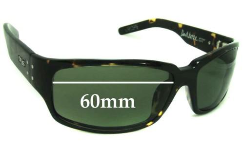 Sunglass Fix Sunglass Replacement Lenses for Otis Dark Horse - 60mm wide