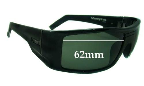 Sunglass Fix Sunglass Replacement Lenses for Otis Memphis - 62mm Wide