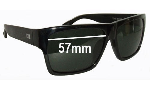 Sunglass Fix Sunglass Replacement Lenses for Otis The Beat - 57mm Wide