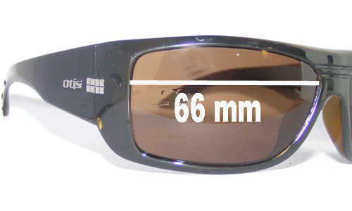 Sunglass Fix Sunglass Replacement Lenses for Otis Unknown Model - 66mm Wide