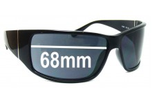 Sunglass Fix Sunglass Replacement Lenses for Police S1532 - 68mm Wide